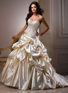 Large View of the Priscilla Bridal Gown Like the dress from the classic Disney movie Beauty & the Beast <3