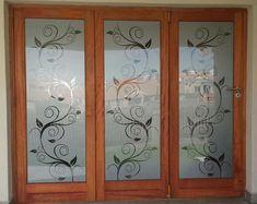 Indian Window Design, Wooden Window Design, Wooden Glass Door, Window Glass Design, Frosted Glass Design, Etched Glass Door, Front Door Design Wood, Frosted Glass Door, Window Grill Design