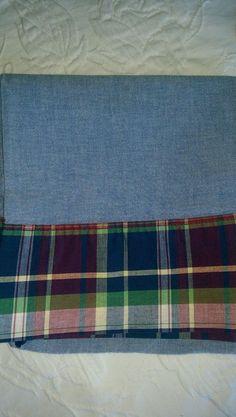 RALPH LAUREN Garrison Plaid Navy Blue Chambray Yel/Red Std Pillowcase~Standand #RalphLauren