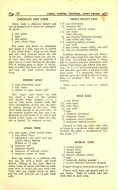 More vintage cake recipes