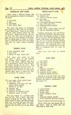 More vintage cake recipes