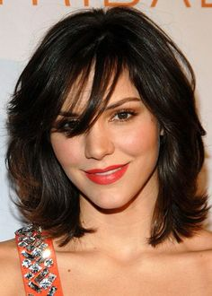 Medium length layered hair styles with bangs