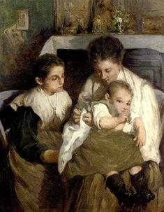 Maternity by Elizabeth Nourse, oil on canvas