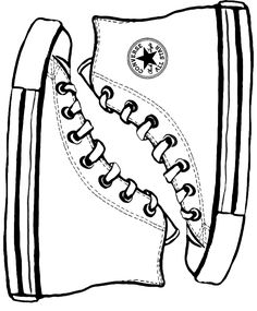 Converse template I was first in my world to have red high tops as a little girl... i was SO cool...lol