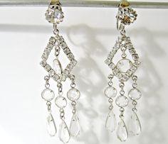 Vintage Dangle Earrings Bridal earrings by nanascottagehouse, $24.95