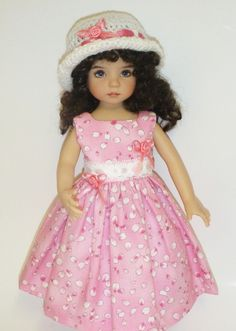 "PINK DRESS, HAT AND LACYMODESTY SHORTS FOR DIANNE EFFNER'S ""LITTLE DARLING DOLL"" #DianneEffnerLittleDarlingDoll"