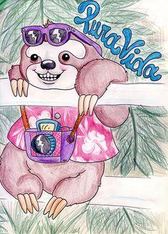 Pura Vida - the tourist sloth