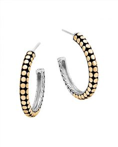 795.00$  Buy here - http://vibex.justgood.pw/vig/item.php?t=p450op29275 - John Hardy 18K Yellow Gold and Sterling Silver Dot Small Hoop Earrings