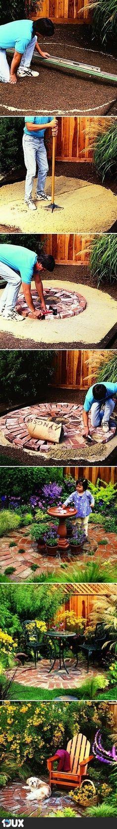 Wie man eine runde Terrasse anlegt