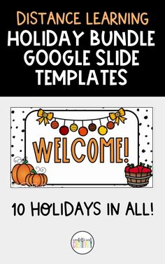 You and your students will enjoy these beautiful and festive holiday google slide templates for your distance learning classroom! This is a growing bundle! The price will go up with every holiday added. Distance learning classroom. Holiday distance learning classroom. Distance learning Google Slide templates. Elementary distance learning classroom. Holiday classroom decor. Online Classroom, High School Classroom, Fall Classroom Decorations, Meet The Teacher Template, Spelling And Grammar, Learning Resources, Kid Crafts, Seasonal Decor, Elementary Schools