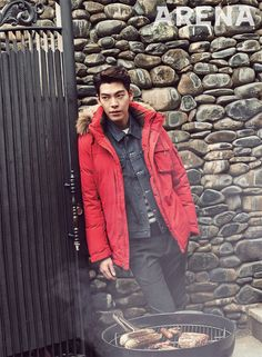 Kim Woo Bin Grills With Arena Homme Plus   Couch Kimchi