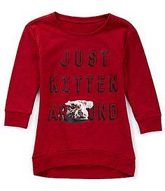 Jessica Simpson 716 Adele Just Kitten Graphic FrenchTerry Sweatshirt #Dillards