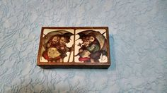Hummel Print  Wood Jewelry Swiss Music Tin  Raindrops Vintage    #Princess