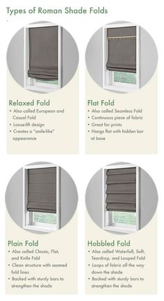 Lovable Types Of Roman Shades and Roman Shade Window Blinds Blindsgalore Patterned Roman Shades, Custom Roman Shades, Woven Shades, Window Blinds & Shades, Drapes And Blinds, Blinds For Windows, Roman Shade Tutorial, Cordless Roman Shades, Window Treatments Living Room