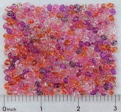 20 Grams Assorted Purple Pink Czech Super Duo Twin Double 2 Hole Glass 5mm Beads #PreciosaOrnella #PressedTwo2HoleBeads