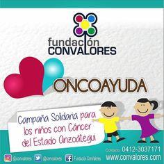 Vía @convalores invitamos a unirte a OncoAyuda  campaña solidaria para los niños con Cancer del estado Anzoátegui. @OncoAyuda @ConValores Te invitamos a colaborar y  ser la voz de estos niños y sus familias como puedes y con que puedes colaborar:  Algodón Alcohol Gasas  Agua Oxigenada Termómetros Recolectores de orina Recolectores de heces Tapa Bocas Centros de cama desechables  Acetaminofen (pediatrico) Omeprazol Nebulizador Mascarillas para nebulizar  Sustagen Pediasure Ensure Gluserna…