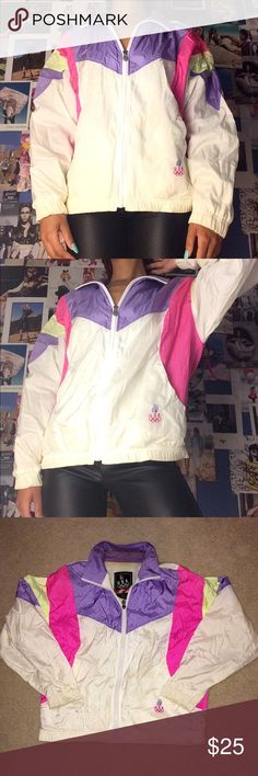 women's vintage Barbz windbreaker by USA Olympics. Follow our Webpage for our newest merchandise first! USA Jackets & Coats