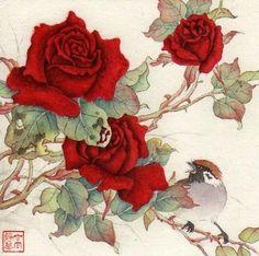 In My West Garden - Original Fine Art for Sale - © Jinghua Gao Dalia
