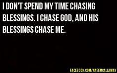 chase God