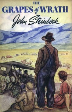 "John Steinbeck received a Pulitzer Prize for ""The Grapes of Wrath"" in 1940, in which he effectively demonstrated how the struggles of one family mirrored the hardship of the entire nation during the Great Depression. (photo: 1939 book cover)"