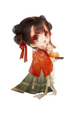 麟乜 Kawaii Chibi, Cute Chibi, Kawaii Anime, Lolis Anime, Anime Chibi, Character Inspiration, Character Design, Chinese Cartoon, Japanese Characters