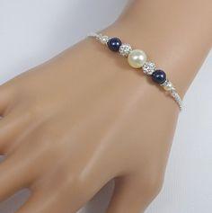 Bracelet Swarovski, Pearl Bracelet, Beaded Bracelets, Bridal Party Jewelry, Wedding Jewelry, Gift Wedding, Beaded Foot Jewelry, Pearl Jewelry, Bridesmaid Bracelet