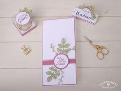 Stampin Up - Stempelherz - Blog Hop Stempelwiese - Hochzeitsinspirationen - Platzkarte - Gastgeschenk - Einladungskarte - Blühende…