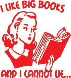 I Like Big Books Funny Librarian Book Lover Nerd Reading Retro Women's T-shirt. $13.99, via Etsy. <3