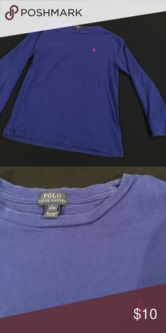 Polo Ralph Lauren Long Sleeved T Shirt Blue Long Sleeved Cotton T Shirt size 14-16 L Polo by Ralph Lauren Shirts & Tops Tees - Long Sleeve