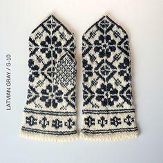 Traditional Latvian Mitten Pattern