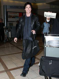 "Ian Somerhalder Photos - ""The Vampire Diaries"" actor Ian Somerhalder seen arriving on a flight at LAX airport in Los Angeles, CA January 10, 2012 - Ian Somerhalder Photos - 2136 of 2650"