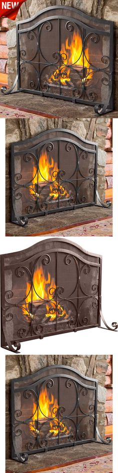 fireplace screens and doors fireplace screens doors black decorative wrought iron fire screen home