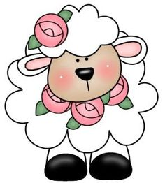 Lamb ~ Would be cute for applique too .by Rosi Patchwork & Quilting, via… Patchwork Quilting, Applique Quilts, Clip Art, Cute Clipart, Applique Patterns, Tole Painting, Digi Stamps, Punch Art, Rock Art