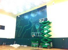 #Installation OAI Printwork for #USFAthletics , USF Men's Basketball 2012  #USF  #GoBulls @University of South Florida University Of South Florida, Men's Basketball, Sports, Excercise, Sport