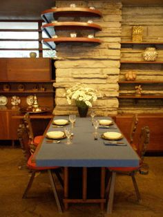 Fallingwater house-dining area. An amazing house to see.