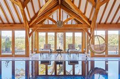 Garden Rooms & Conservatories - Welsh Oak Frame Oak Framed Extensions, Oak Framed Buildings, Oak Frame House, Conservatories, Pool Houses, Welsh, Building A House, Gazebo, Swimming Pools