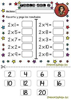 Mi primer cuaderno de las tablas de multiplica - Imagenes Educativas Kindergarten Reading Activities, Preschool Math, Teaching Math, Math Activities, Cognitive Activities, 3rd Grade Math Worksheets, Math Sheets, English Worksheets For Kids, Simple Math