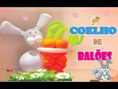 #coelhodebaloes Como Fazer Coelho de Balões/Canal Juju Oliveira - YouTube Tutti Frutti, Yoshi, Youtube, Tutorials, Sculpture, Bunny, Olive Tree, Party, How To Make
