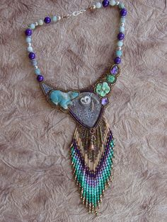 Bear and the Owl Necklace by HeidiKummliDesigns on Etsy