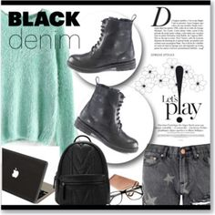 Black Denim and Combat boots! OOTD