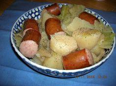 Crock pot cabbage potatoes and sausage