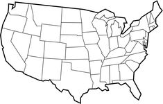 blank maps of usa Free Printable Maps Blank Map of the United States
