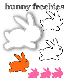 free scrap Easter bunny png's and digital stamp – Osterhase Clipart – freebie | MeinLilaPark – DIY printables and downloads