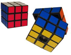 """Rubik's Cube Salt Mill.  I imagine this would lead to many incidences of """"spilling the salt."""""""