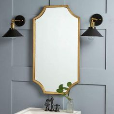 west elm Scalloped Edge Mirror