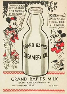 Grand Rapids Creamery - Minnie Mouse and Mickey Mouse