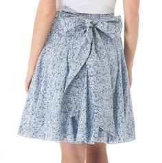 Pleated A-Line Skirt with Bow; I just got a skirt from Goodwill with a similar pattern! I'm totally cutting it up to make this! Too cute!