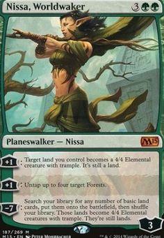 Nissa, Worldwaker 2015 Core Set Magic The Gathering MTG Card Kingdom