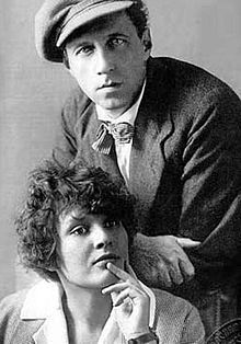 Vsevolod Emilevich Meyerhold (9 Feb [O.S. 28 Jan] 1874 – 2 Feb 1940) Russian & Soviet theatre director, actor & theatrical producer. His provocative experiments dealing w/ physical being & symbolism in an unconventional theatre setting made him one of seminal forces in modern international theatre. (seen here w/ 2nd wife, actress Zinaida Reich)  (both met unfortunate ends under Stalin.)  ~Repinned Via Bright Side Movie