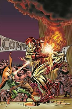 #Iron #Man #Fan #Art. (Iron Man: The Coming of the Melter Vol.1 #1 Variant Cover) By: Kane.